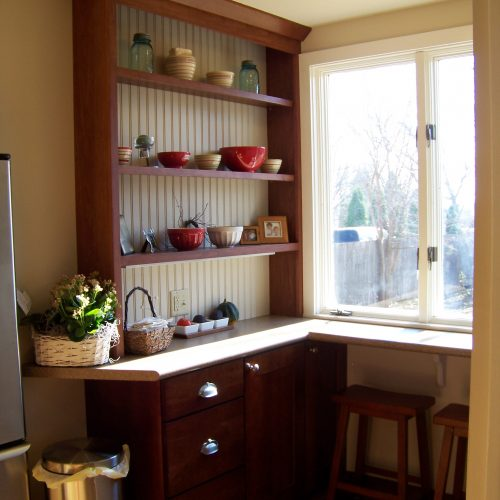 Kitchen Remodel custom hutch