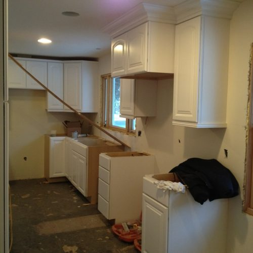 Sumner Kitchen Cabinet Install - from dining