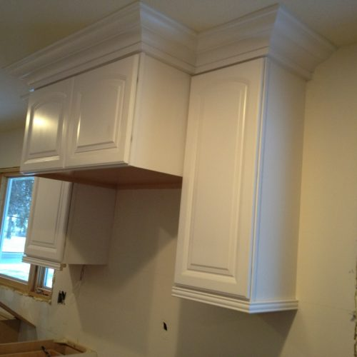 Sumner Kitchen Cabinet Install - fridge location