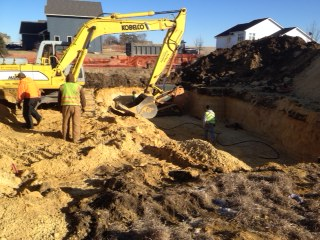 New Home Construction foundation dig 2