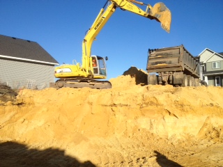 New Home Construction foundation dig 6
