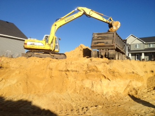 New Home Construction foundation dig 7