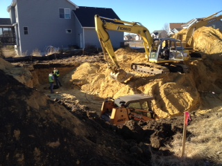 New Home Construction foundation dig 8
