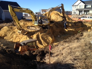 New Home Construction foundation dig 9