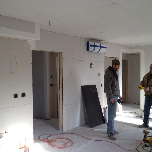 Archer House Drywall Install